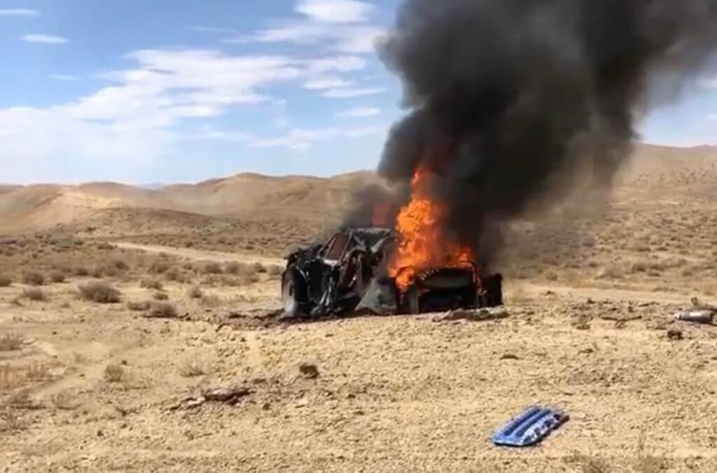 levis trophy truck on fire off road racer
