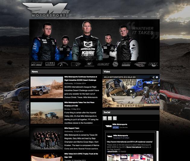 mills racing website mad media