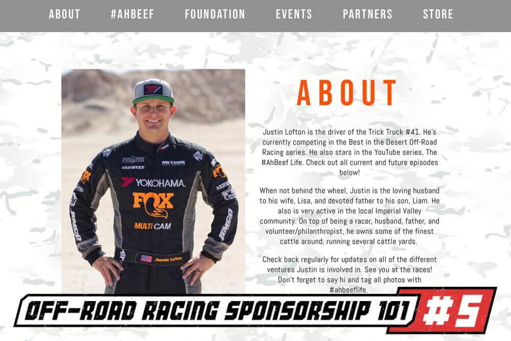 off road racer sponsorship part