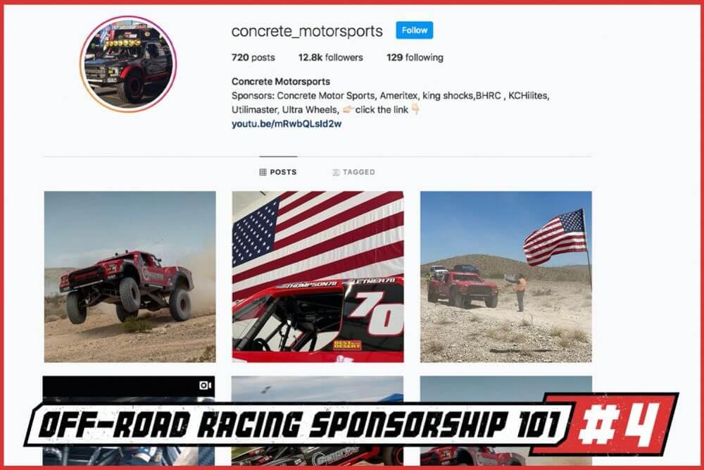 off road racing sponsorship off road racer