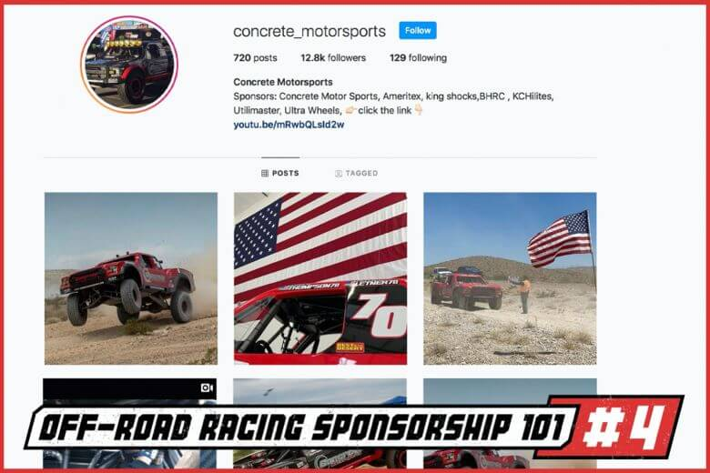 off road racing sponsorship off road racer
