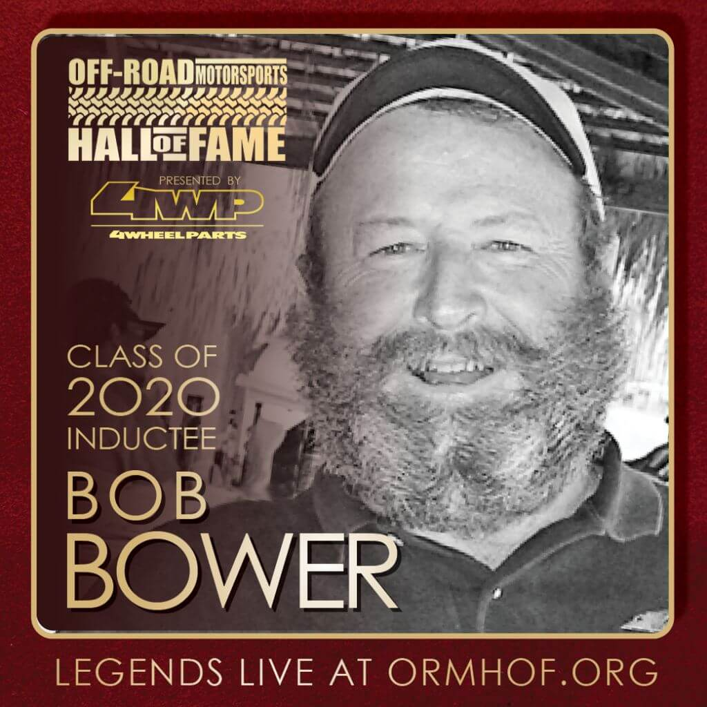 ORMHOF Inductee BobBower Square off road racer