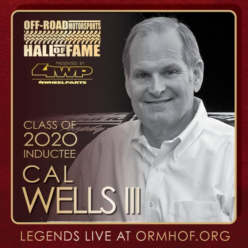 ORMHOF Inductee CalWellsIII IGSquareoff road racer