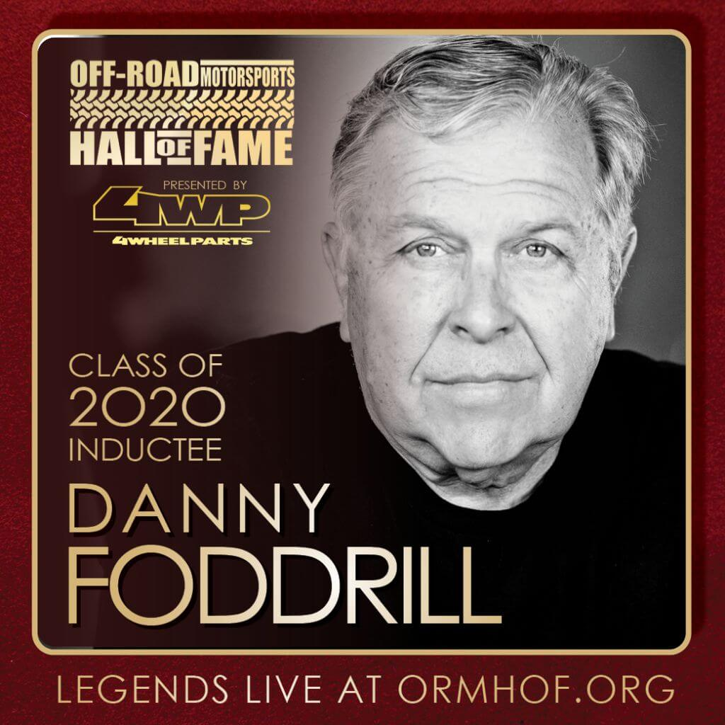 ORMHOF Inductee DannyFoddrill Square off road racer
