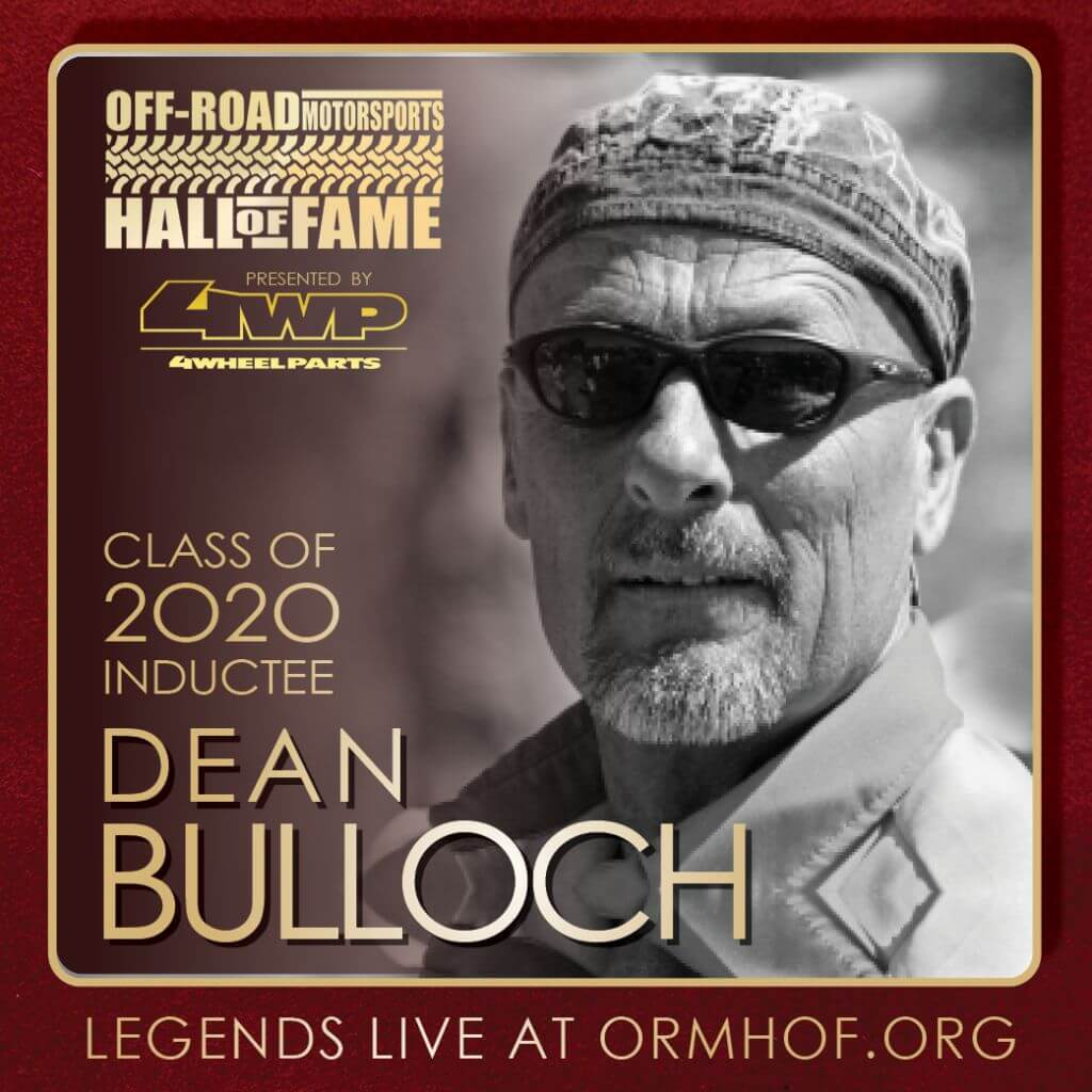 ORMHOF Inductee DeanBulloch Square off road racer