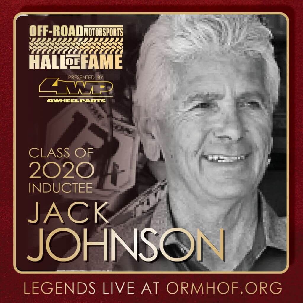 ORMHOF Inductee JackJohnson Square off road racer