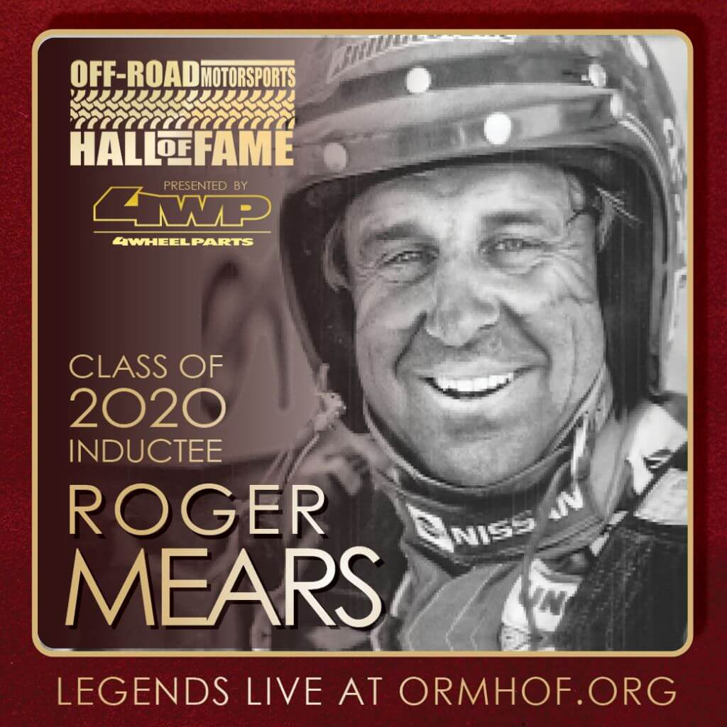 ORMHOF Inductee RogerMears Square off road racer