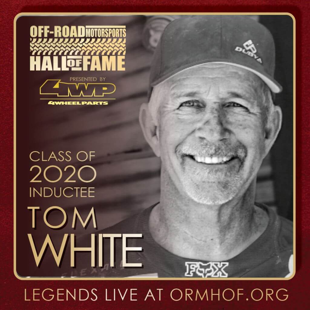 ORMHOF Inductee TomWhite Square off road racer