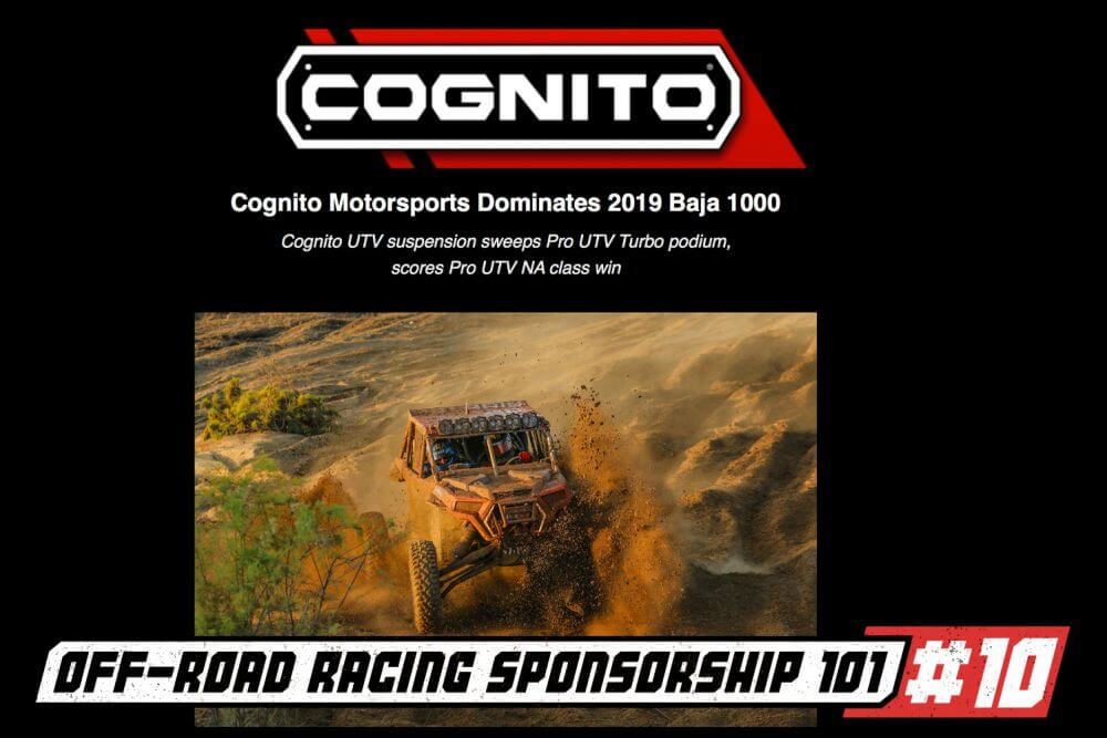 off road racer sponsorship part