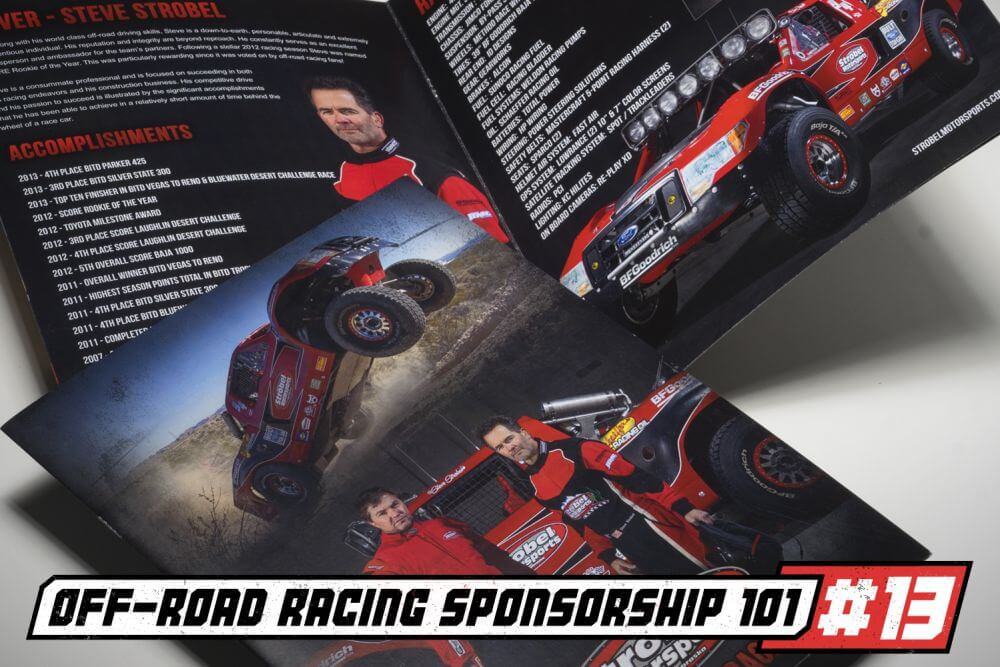off road racer sponsorship template